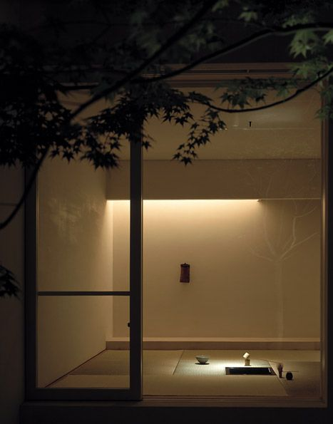 View from the patio towards the tatami room of the Tetsuka House by John Pawson.
