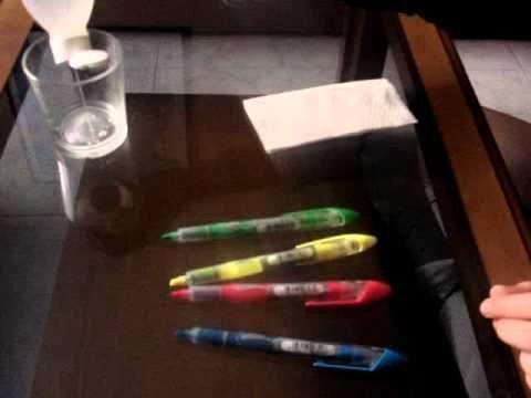 Cromatografía de la tinta