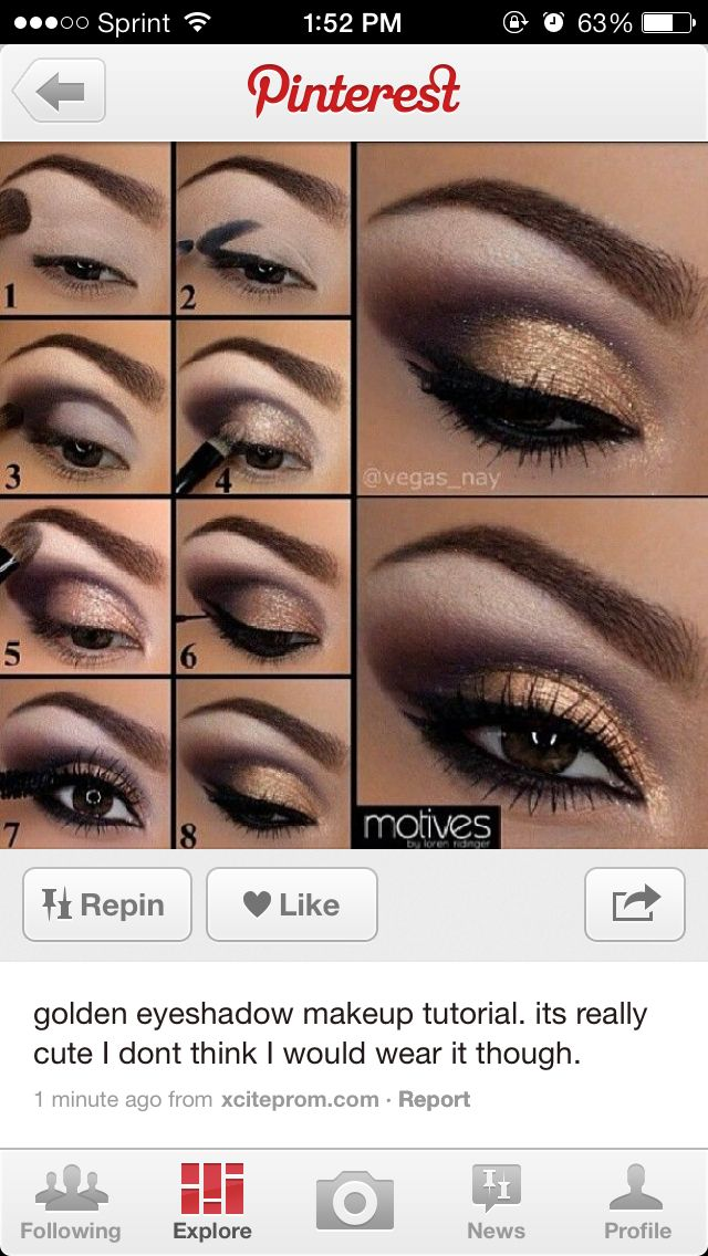 gold and brown eye makeup