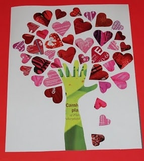Valentine tree craft
