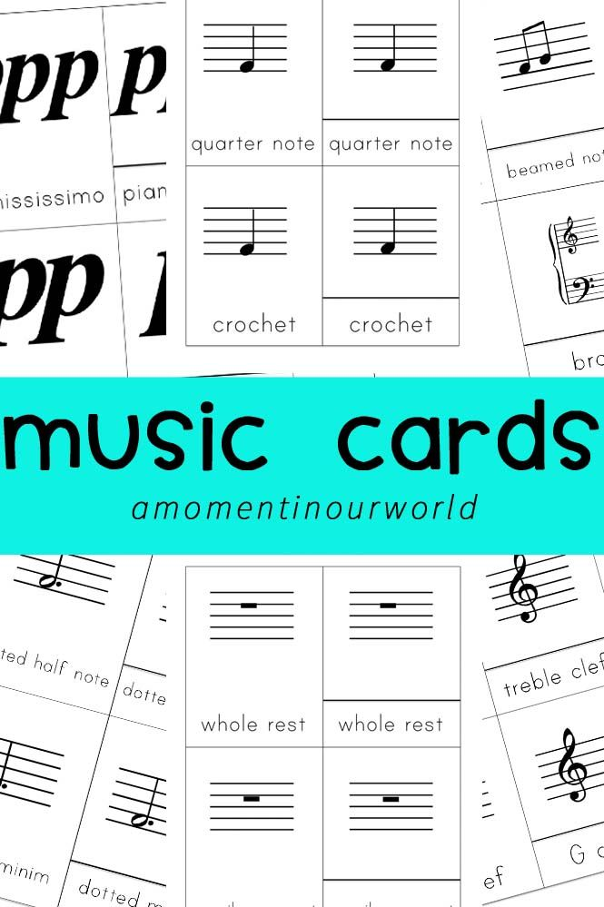There are many signs and symbols in music making it hard to remember what everything stands for. I created these music cards to help our boys learn what each symbol means. These music cards can be used to: enrich your child's music knowledge and language learn to read, write and spell the more common signs and …