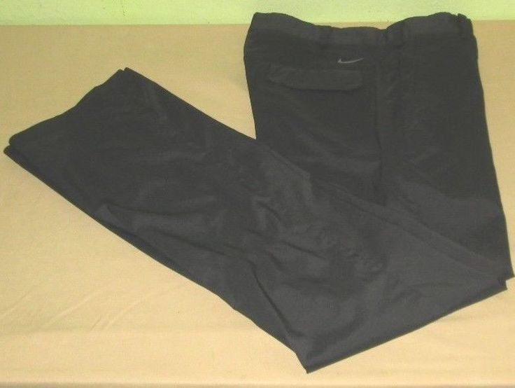 Men's NIKE GOLF DRI FIT Tour Performance Flat Front Pants Sz 34 x  34 - Black #NikeGolf #CasualPants