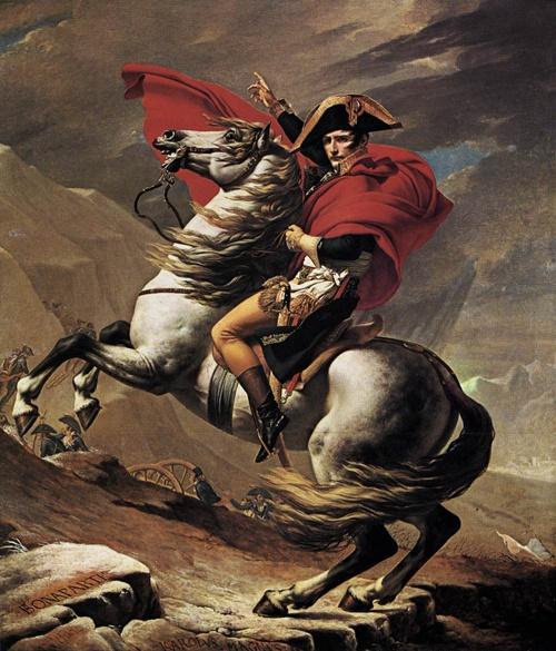 Jacques Louis David -  Napoleon at the St. Bernard Pass