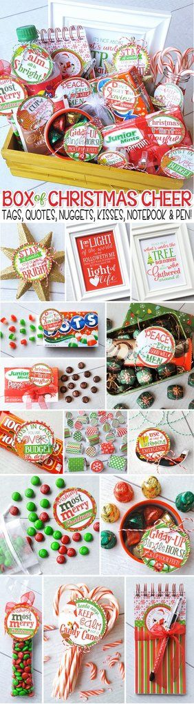 Christmas Gift Tags PRINTABLE - Ultimate collection of Christmas Gift Tags and Gift Ideas! Candy cane gift tag, peace on earth, JOHN 8:12, gathered around the tree quote and more! #mycomputerismycanvas