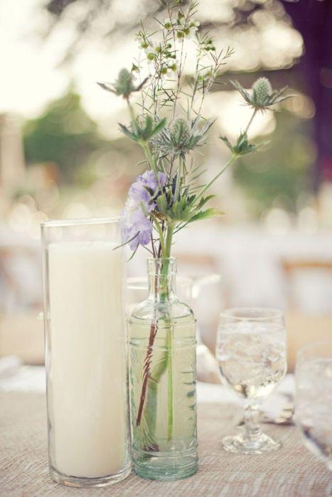 wedding centerpiece ideas #wedding #flowers #shabby chic www.planningyourweddingforless.com