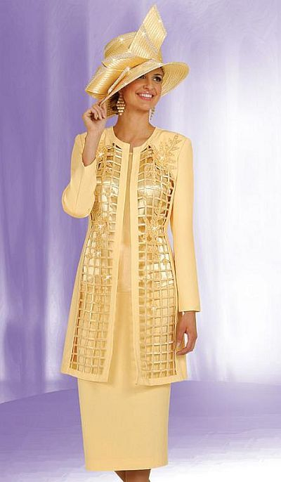 Ben Marc Womens Church Suit With Long Jacket 4550 Church Clothes