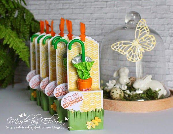 Karottenschirmchen hübsch verpackt mit Stampin Up