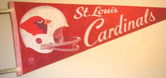 Vintage St. Louis Cardinals Pennant - Vintage Football - Antique Football - Vintage Sports - Antique Sports - NFL Gear on Etsy, $30.00