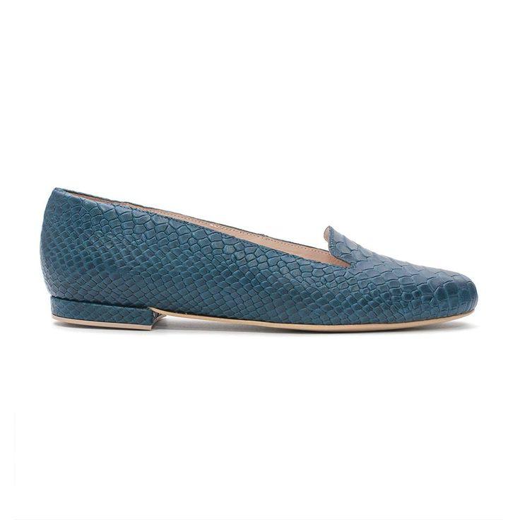 ANACONDA leather BLUE SEA loafer summer 2015 PASO a PASO