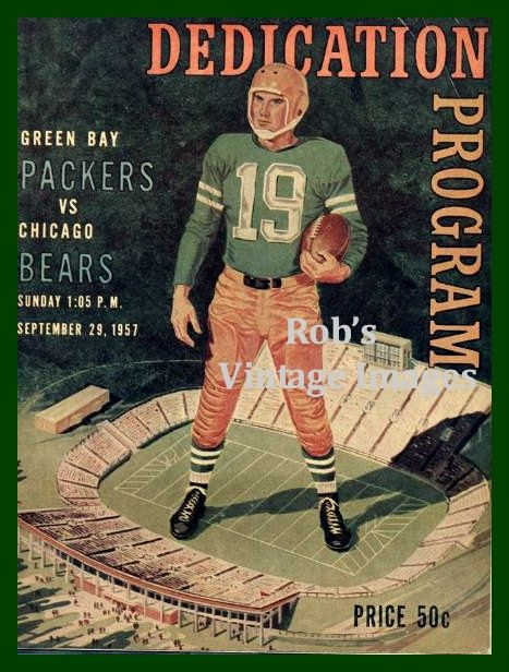 Green Bay Packers  Chicago Bears Poster City by RobsVintageImages, $8.99 // Football or sports themed room? This would be a cute way to have it understated and cool.