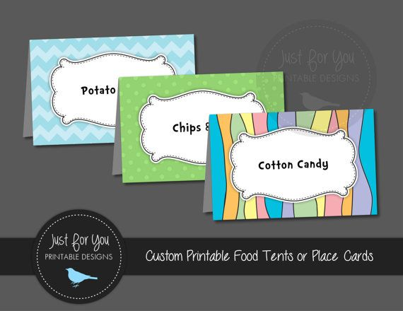 Oh the Places You'll Go - Food Tent Labels or Place Tags - Birthday, Baby Shower, Graduation - Printable YOU PRINT (Digital File)