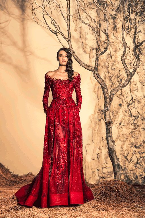 Stunning Red Evening Dresses By Ziad Nakad Fall/Winter 2014/2015 // Pinned by Dauphine Magazine x Castlefield - Curated by Castlefield Bridal Company & Branding Atelier and delivering the ultimate experience for the haute couture connoisseur! Visit www.dauphinemagazine.com, @dauphinemagazine on Instagram, and @dauphinemag on Pinterest • Visit Castlefield: www.castlefield.co and @ castlefieldco on Instagram / Luxury, fashion, weddings, bridal style, décor, travel, art, design, jewelry