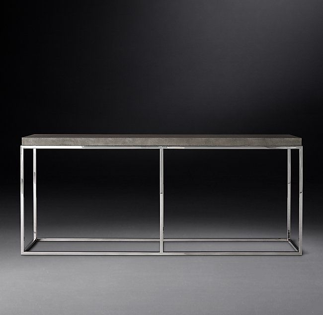 Nicholas Shagreen Large Console Table Large Console Table