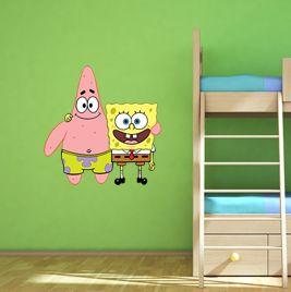 Spongebob and Patrick wall sticker! #spongebob #patrick #starfish #kids #kidsart #nickelodeon  http://www.abodewallart.co.uk/wall-stickers/Spongebob-Squarepants-and-Patrick.html