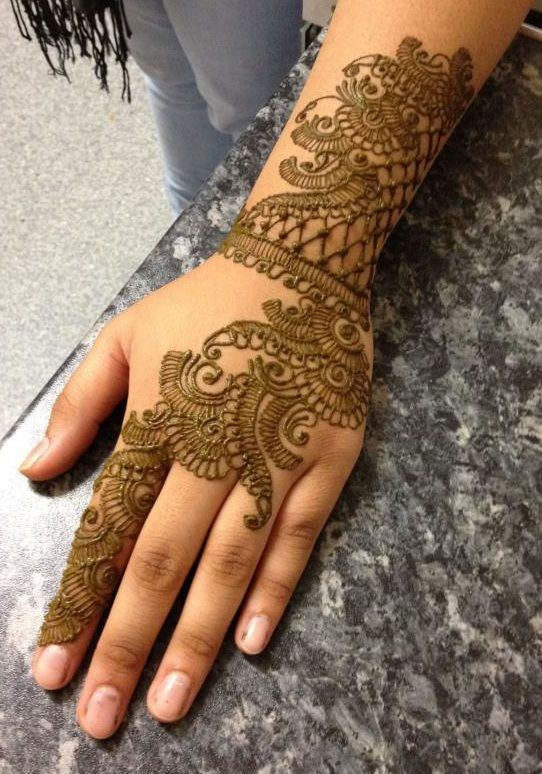 Eid Mehndi design On Hand