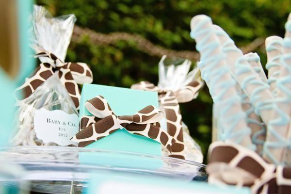 blue giraffe baby shower decorations | Baby & Co. Tiffany Blue Inspired Baby Shower Planning Ideas Decor