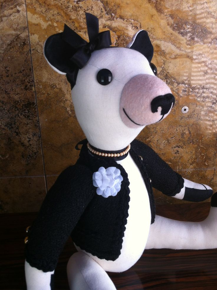 This is Coco I, one of the first Chanel Teddy Bears handmade by GSBears.