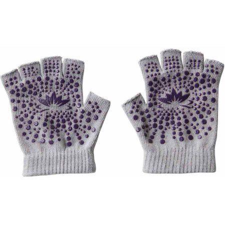 Lotus Non-Slip Yoga Gloves, Gray