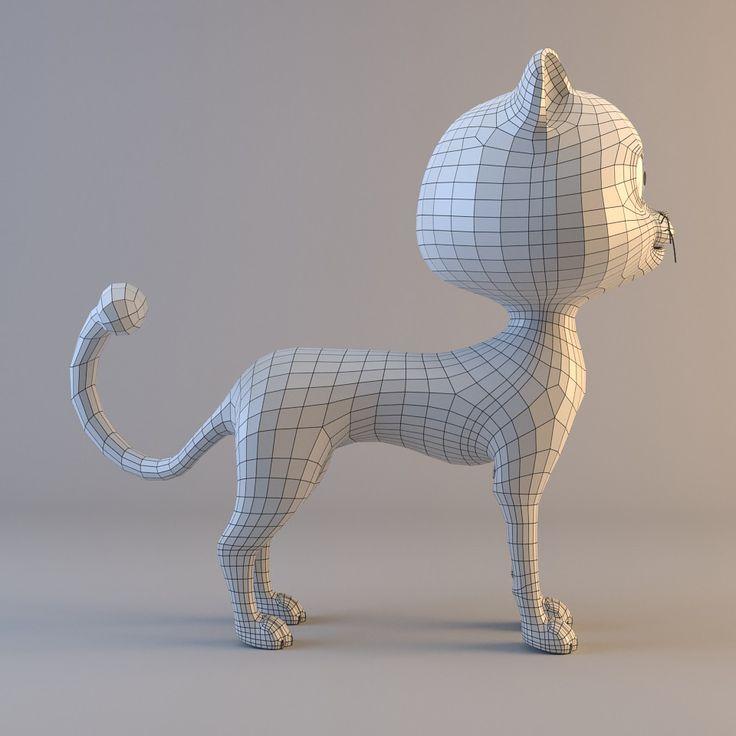 3D ma cat cartoon t