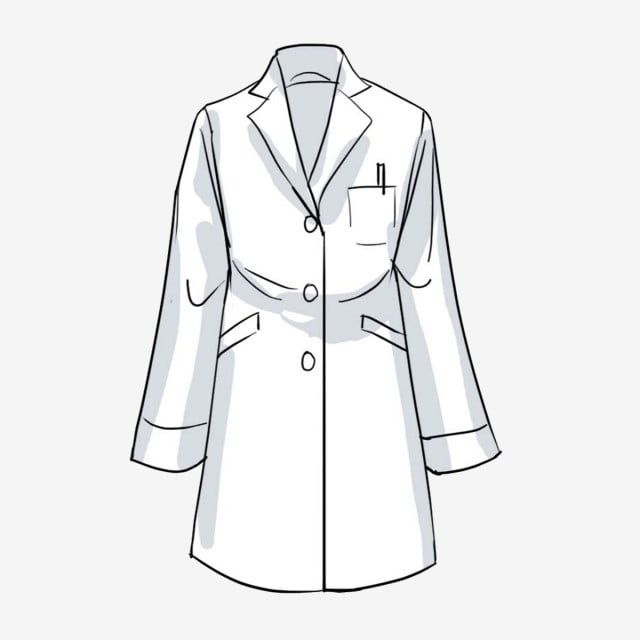 Drawing White Lab Coat Drawing White Lab Png Transparent Clipart Image And Psd File For Free Download In 2021 Doctor White Coat Doctor Coat Scientist Clothes