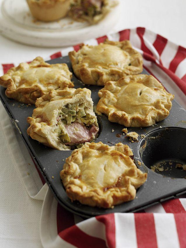 Farmhouse Bacon and Leek Pies