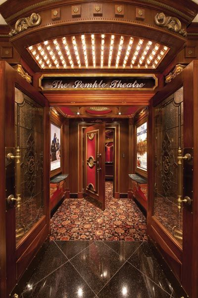 home theater entrance. Oh man!!!! where is the popcorn popper on wheels and the soda fountain?