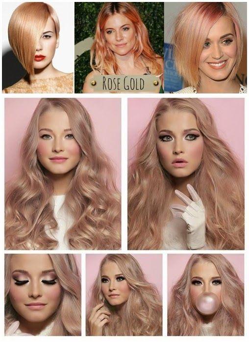 Rose gold blonde hair
