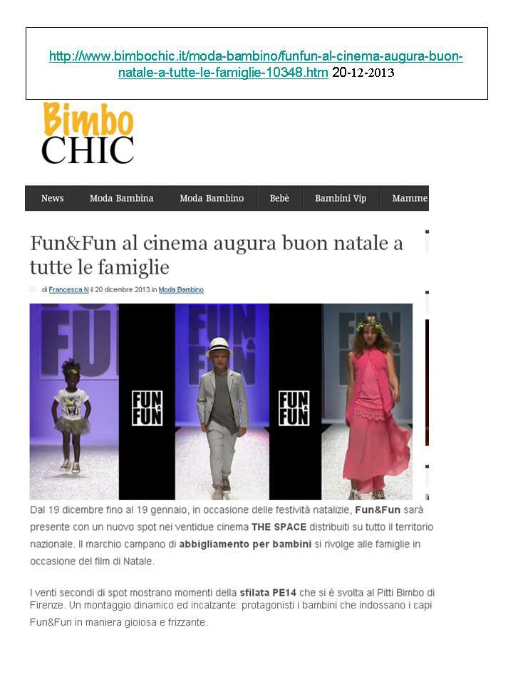 Lo spot di Fun&Fun nei cinema THE SPACE raccontata da bimbochic.it