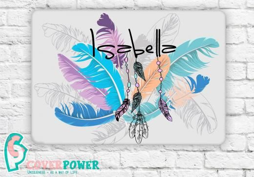 Coverpower Name Feather Boho Skin Notebook Vinyl Decal Lenovo Asus Dell Any Laptop Sticker Mb278 United States Universal