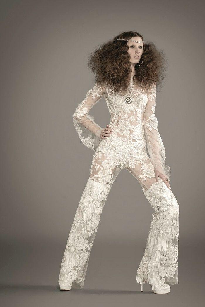 Macacão Lucas Anderi para editorial da revista Bride Style #macacao #anos70 #moda #fashion #weddingdress #noivas #bride