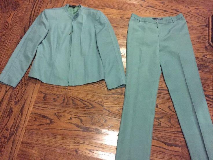 Ellen Tracy Linda Allard Women 039 s Mint Green Business Pant Suit Size 12 | eBay