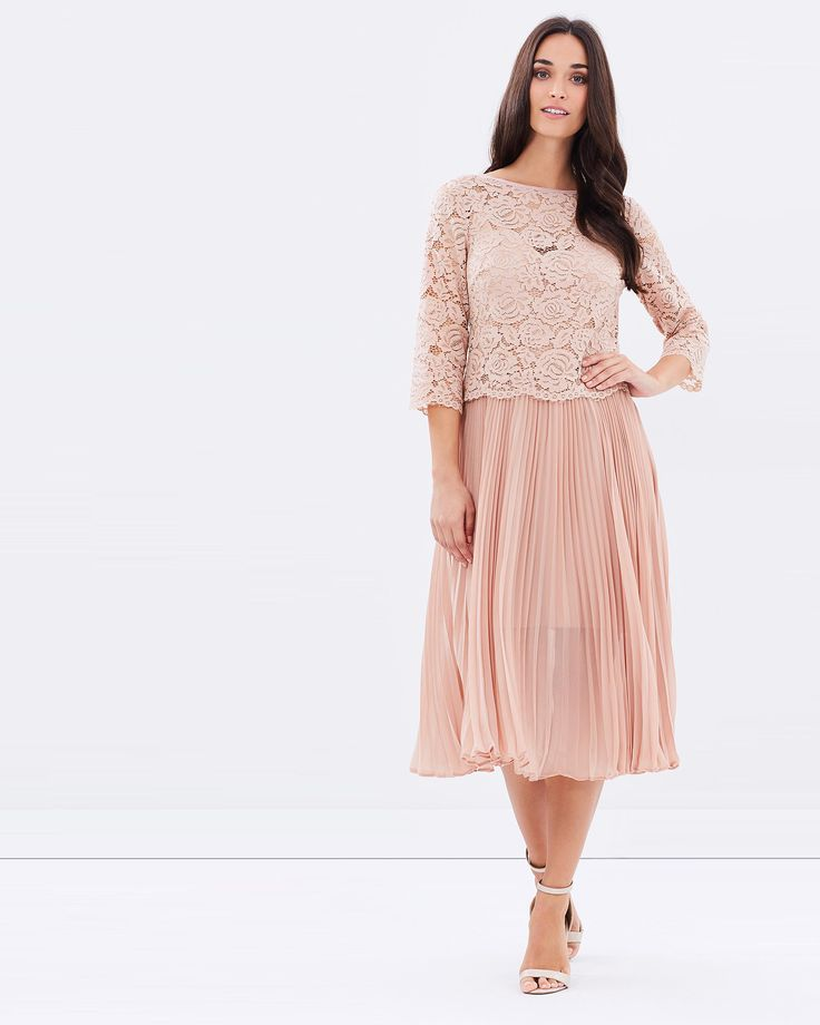 Lace Top Pleated Midi by Oasis Online   THE ICONIC   Australia