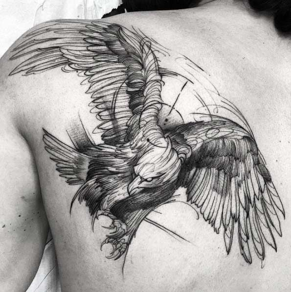 Eagle Tattoo Line Drawing : Best eagle tattoos ideas on pinterest drawing