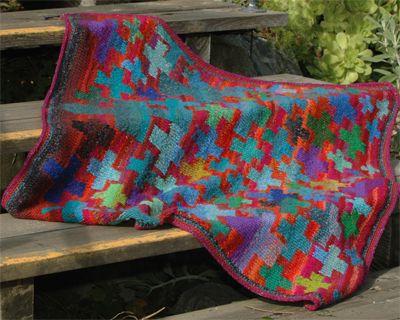 Oxfam Knitting Pattern For Blankets : Knitted cross-hatch throw by Kaffe Fassett Kaffe Fasset ...