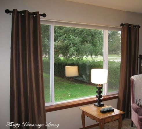 short curtain rods thrifty parsonage living secret to inexpensive curtain 12482