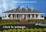 CHP-SP-3581-GALarge Southern Plantation Style House Plan3 Bedrms + Den, 2 Baths 2 Story (Down)