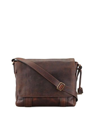 Logan Flap Messenger Bag by Frye at Neiman Marcus.