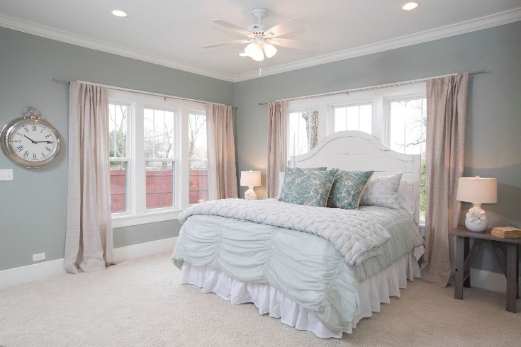 "As seen on HGTV's ""Fixer Upper,"" Thursdays 11/10c--> http://hg.tv/10wdgWall Colors, Remodeling Ideas, Guest Room, Nice Bedrooms, Decor Ideas, Colors Schemes, Master Bedrooms, Bedrooms Ideas, Fixer Upper"