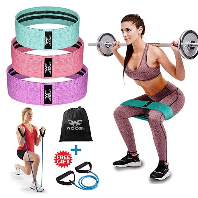 Fabric Resistance Bands Nonslip Exercise Home Gym Elastic Hip Circle Booty Band