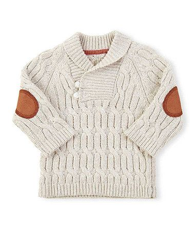 Love this Cream Cable Knit Toggle Pullover Sweater - Infant on #zulily! #zulilyfinds