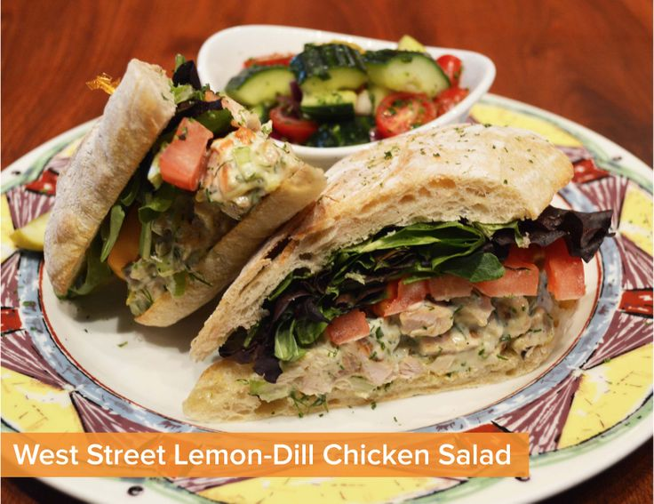 Grilled Lemon Chicken Salad With Dill Cream Dressing ...