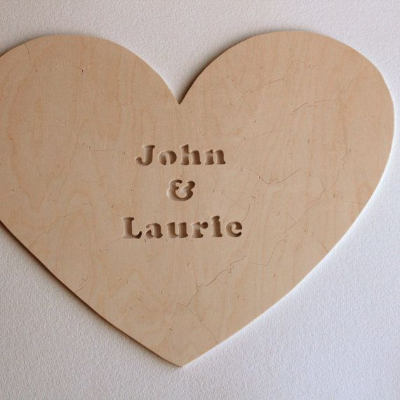 HEART Guest Book Puzzle for Wedding - a guestbook alternative by Bella Puzzles.