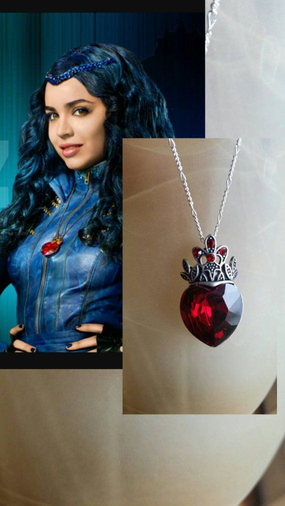 Evie Disney Descendants...inspired....Gorgeous Necklace Guaranteed before Halloween!!  The pendant itself is approximately 1.1/2 inch x 3/4 inch