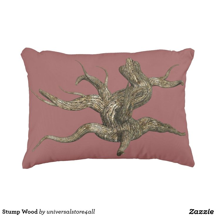 Stump Wood Accent Pillow