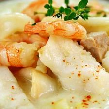 Best Seafood Chowder  http://www.mydailymoment.com/recipes/best_seafood_chowder.php#