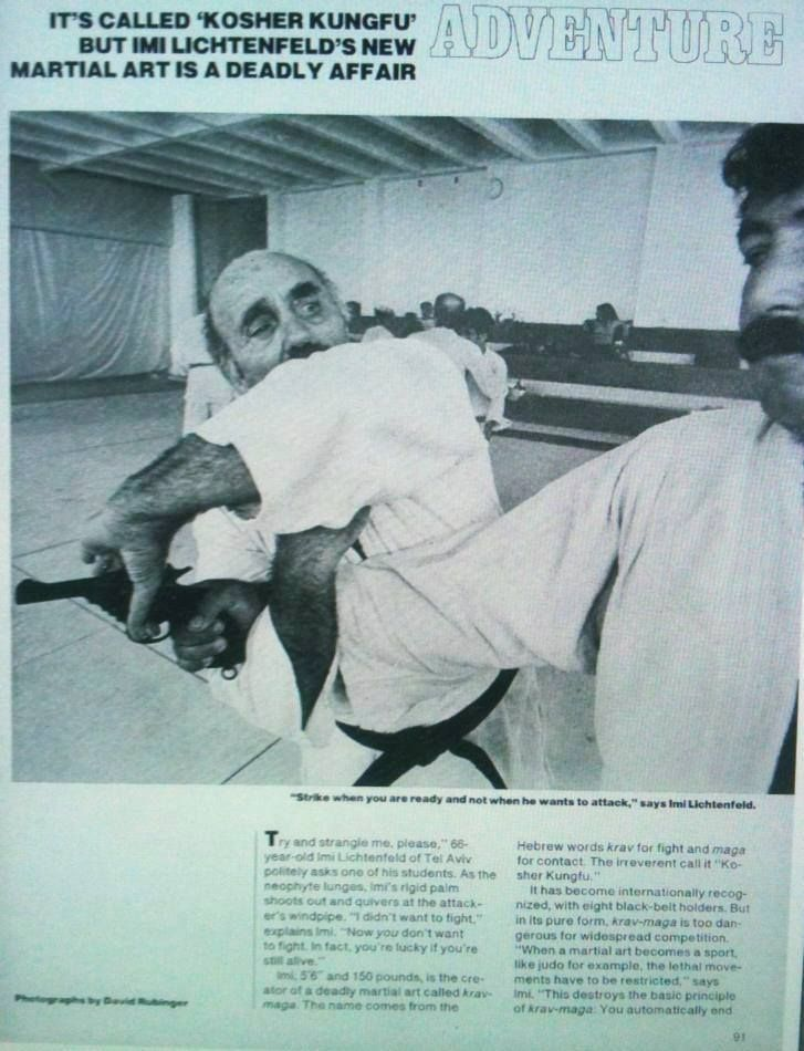 """November 15, 1976 People Magazine Vol. 6. No. 20, pp 91-92: """"It's Called 'Kosher Kungfu' but Imi Lichtenfeld's New Martial Art Is a Deadly Affair"""" By Arturo F. Gonzalez Jr."""
