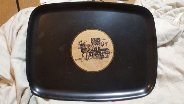 Vintage Hood's Milk Ice Cream Advertising  Serving Tray Couroc Plastic Resin