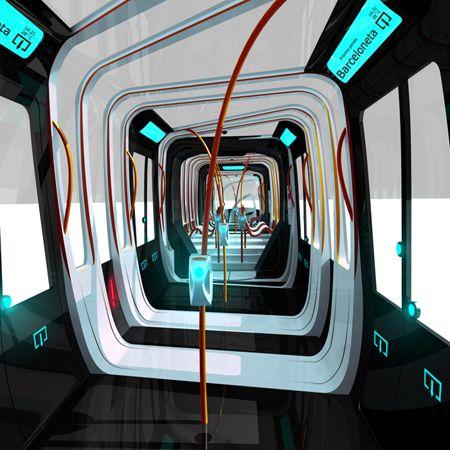 public transportation vehicle, Transpiral, Tramway, tram, Spiral Structure, futuristic design