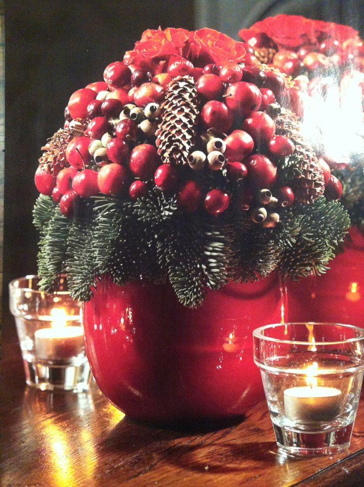 Kerststuk met malusappels