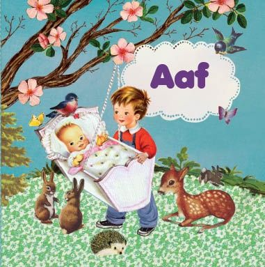 retro Geboortekaartje Aaf voor een tweede kindje - Petit Konijn